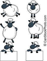 Vector illustration of sheep cartoon
