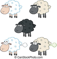 Sheep Characters 1. Collection Set
