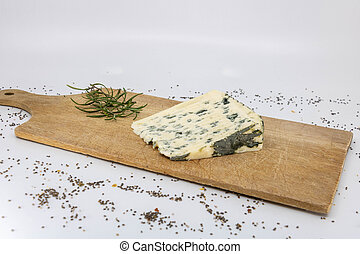 Sheep cheese, Bleu d'Auvergne and fresh rosemary for French ...