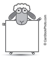 sheep, chorągiew