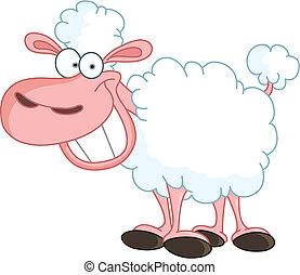 Sheep - Funny sheep with big smile