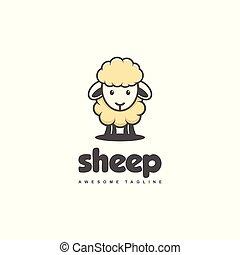 Sheep Concept illustration vector template