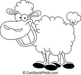 sheep, contorneado