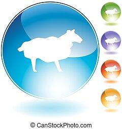 Sheep Crystal Icon Set