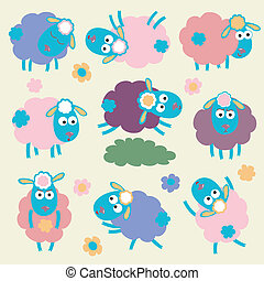 Sheep - Cute cartoon sheep
