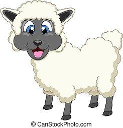 sheep, cute, cartoon