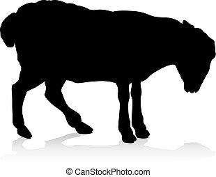 Sheep Farm Animal Silhouette