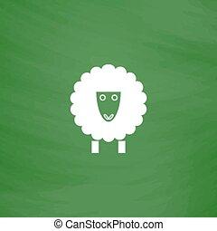 Sheep flat icon