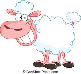 Sheep - Funny sheep with big smile