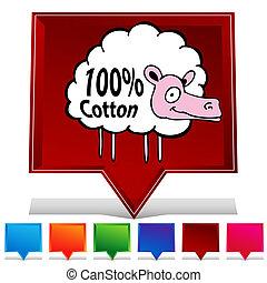 Sheep Gemstone Button Set