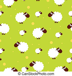sheep, hvid, seamless, tekstur