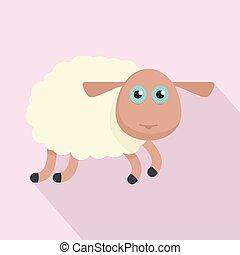 Sheep icon, flat style