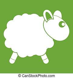 Sheep icon green