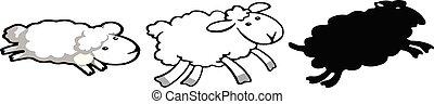 Sheep icon on white background
