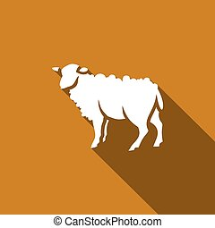 Sheep icon. Vector Illustration.