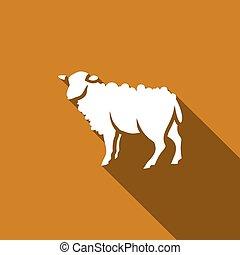 Sheep icon. Vector Illustration.