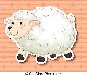 Sheep - Illustration of a close up sheep