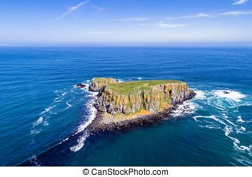 Sheep Island in Northern Ireland, UK
