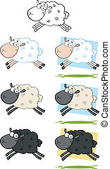 Sheep Jumping Collection Set