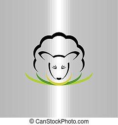 sheep logo vector icon symbol sign illustration
