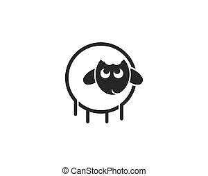 sheep logo vector