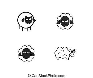 sheep logo vector icon
