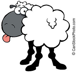sheep, miedoso, negro