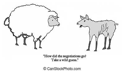 Sheep negotiations - Sheep has been fleeced