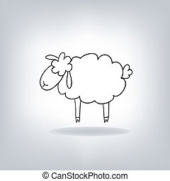 sheep, nero, silhouette