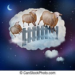 sheep, odliczający