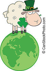 Sheep On A Globe
