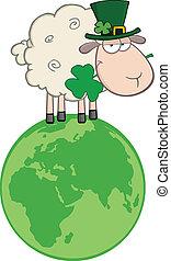 Sheep On A Globe