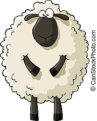 Sheep on a white background vector illustration