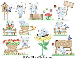 sheep, pascua, iconos
