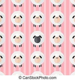Sheep Pattern.Modern Flat Design Illustration 4