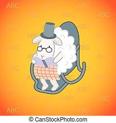 sheep, sedia dondolo, seduta