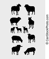 Sheep Silhouettes Set