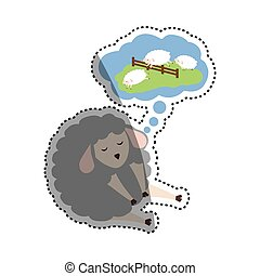 Sheep sleeping cartoon