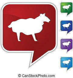 Sheep Speech Balloon Icon Set