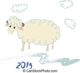 Sheep. Symbol of 2015.