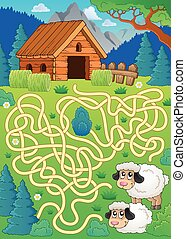 sheep, trenta, tema, labirinto