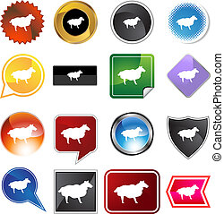 Sheep Variety Icon Set