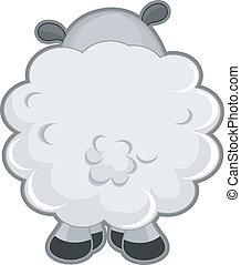 sheep, visión trasera
