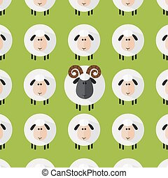 Sheep With Aries Pattern