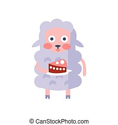 Sheep With Party Attributes Girly Stylized Funky Sticker