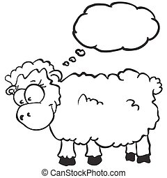 sheep with thought bubble