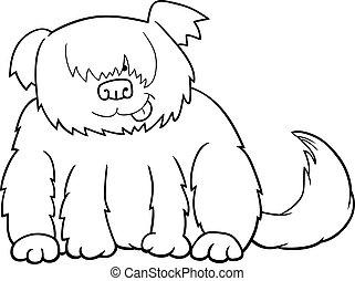 Sheepdog cartoon illustration for coloring
