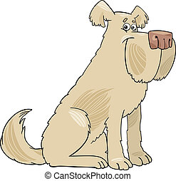 Sheepdog shaggy dog cartoon illustration - Cartoon ...