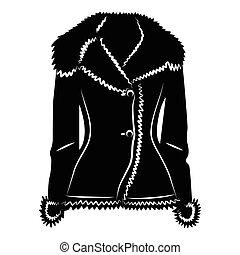 Sheepskin jacket ico, simple style