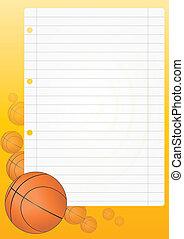 sheet basketball - illustration of blank sheet with ...